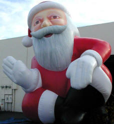 Advertising balloons, giant holiday balloons, custom made holiday inflatables,