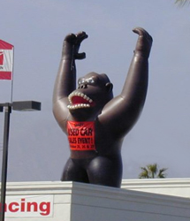 Giant Inflatable Gorilla For Gorilla Marketing