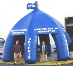 Custom Made inflatable tents, trade show booth, kiosk. Click for Larger View.